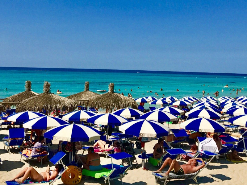 A Puglia e as praias na alta temporada