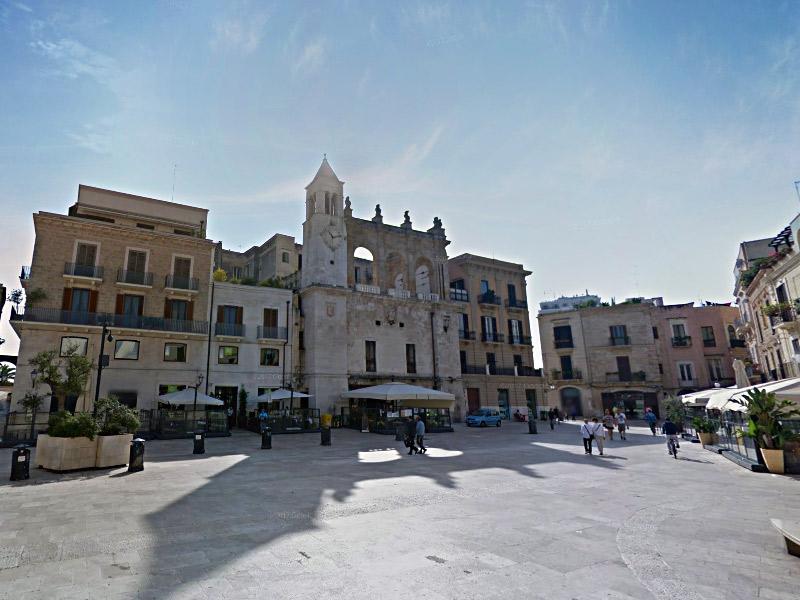 Centro histórico de Bari, a capital da Puglia