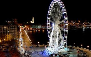 A roda gigante em Bari