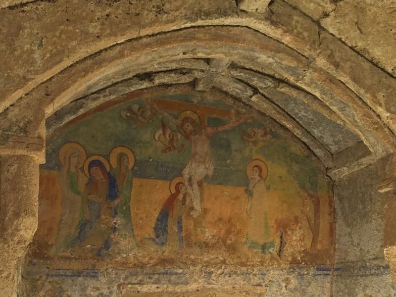 Afresco na igreja rupestre de Santa Sofia em Ginosa (TA)