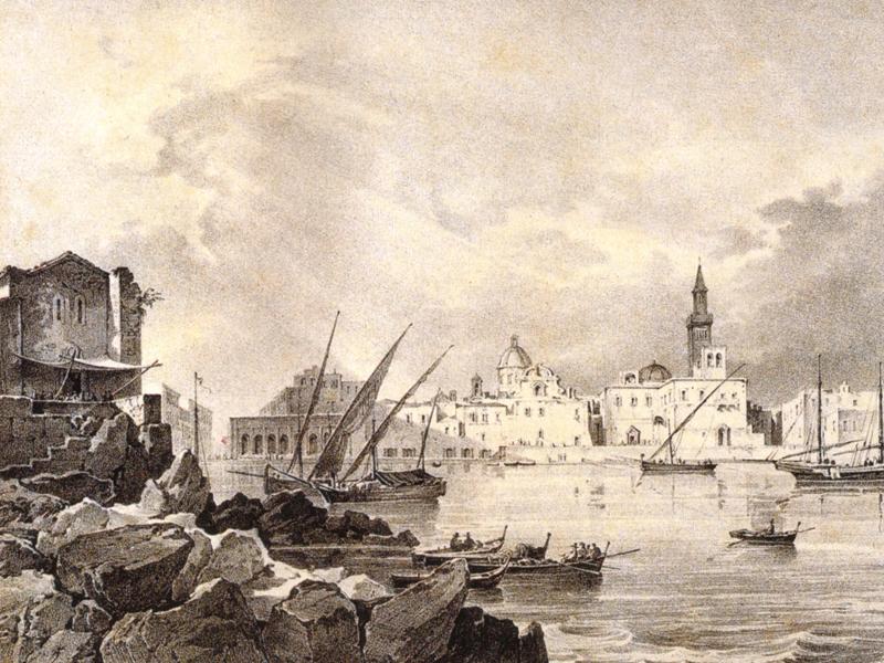 História da Puglia - Porto de Bari no século XIX