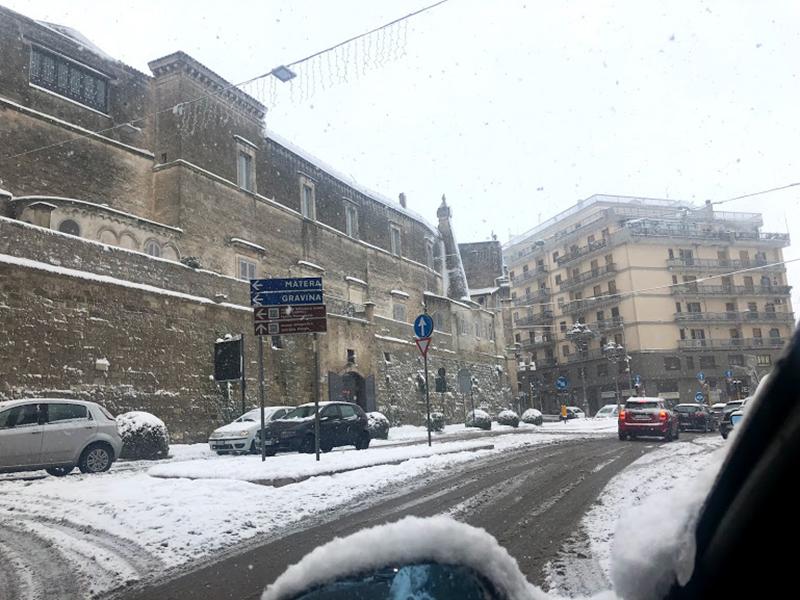Inverno na Puglia com neve em Altamura (BA)