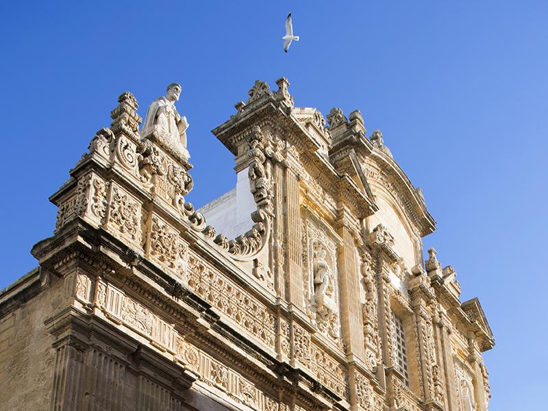 Catedral de Sant'Agata no centro histórico de Gallipoli