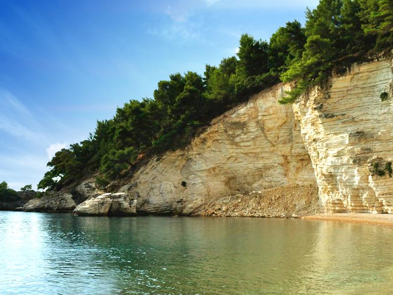 Praia de Porto Greco - Vieste, a capital do Gargano
